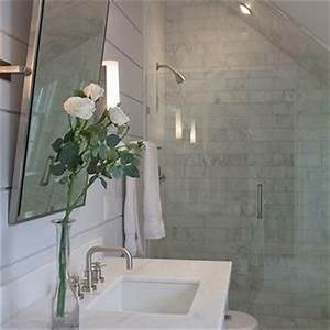 Attic bathrooms with sloped ceilings shower small for Small attic bathroom sloped ceiling