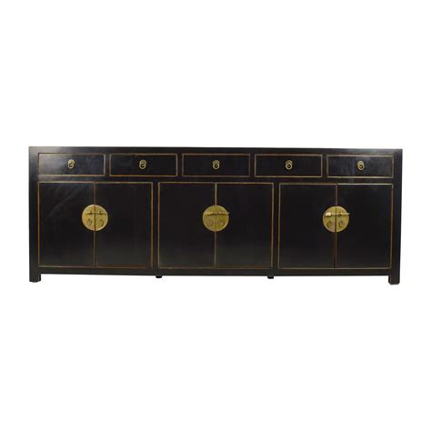 Second Sideboard by 85 Custom Made Black Drawer And Cabinet Sideboard