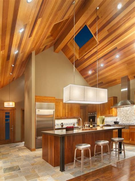 pictures of kitchen designs with islands vaulted ceiling lighting idea contemporary design 9108