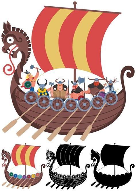 cartoon viking ship   versions  transparency