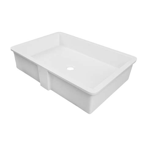 16 undermount bathroom sink decolav 16 quot x 24 quot undermount bathroom sink white 1839 24