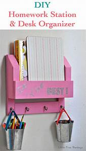 DIY Desk Organizer And Homework Station The O39jays