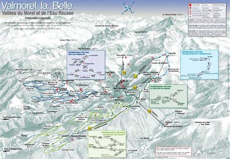 Valmorel plan des pistes de ski de fond - Alpski.com
