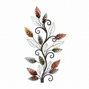 Metal leaf wall decor free shipping today overstock