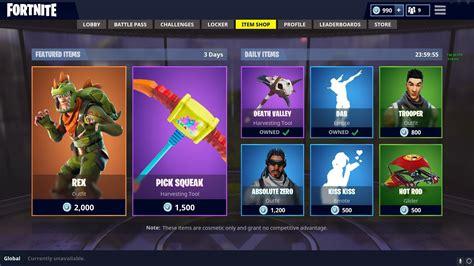 daily shop rex  pick squeak fortnitebr
