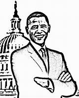 Obama Coloring Printable President Pages Barack Michelle Preschoolers Worksheets July Activities 4th History Crafts Loan Print Month Getcolorings Printables Worksheeto sketch template