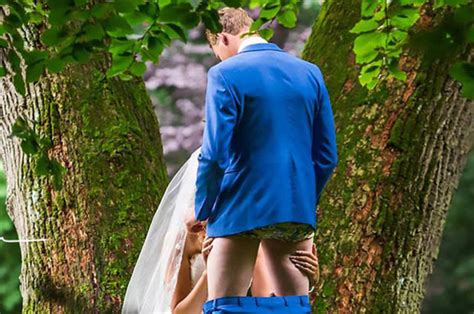 Wedding Photo Of Couple Performing Oral Sex Act Goes Viral