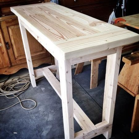 diy console table   pine lumber easy plans  ana
