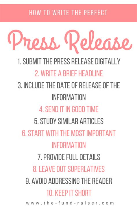 event press release template template business