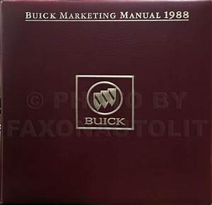 1988 Buick Regal Repair Shop Manual Original