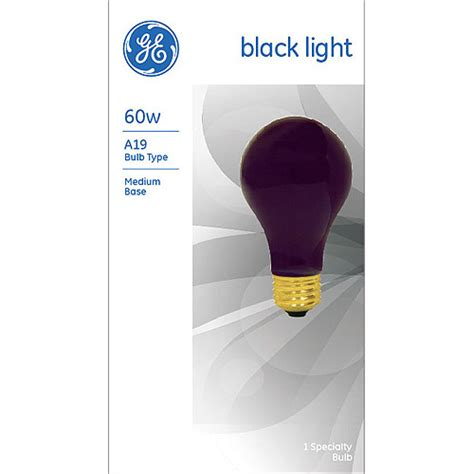 ge blacklight 60 watt a19 1 pack walmart