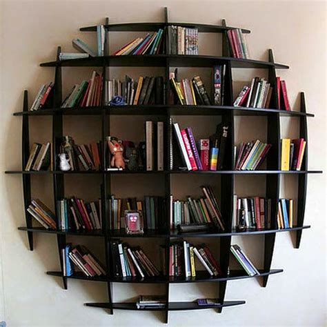 Style Cool Design Book Shelv With Creative And Unique Shape   Sophisticated Interior House