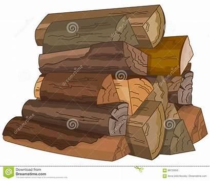 Wood Fire Clipart Illustration Cartoon Logs Firewood