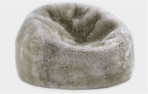 Faux Fur Bean Bag Chair Pottery Barn   Horner H&G