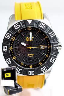 swiss army 005 black yellow caterpillar jual jam tangan original fossil