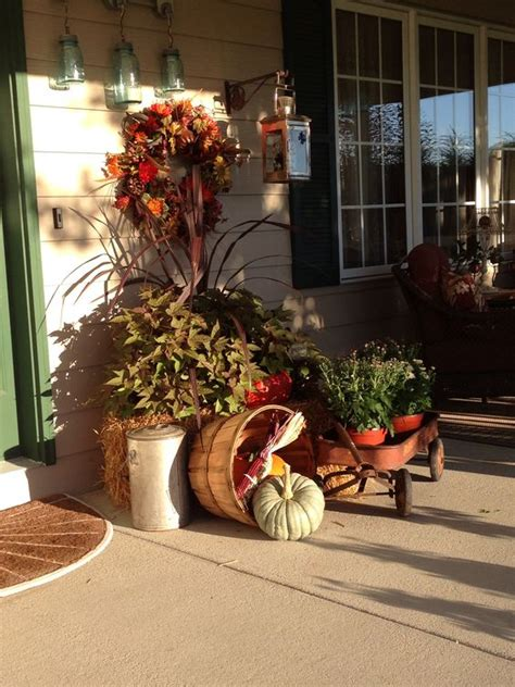 bed ideas for fall porch decor yard porch flower bed ideas
