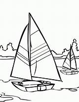 Coloring Water Pages Sailboat Sailing Printable Sail Adult Boat Colouring Template Ship Walks Jesus Comments Simple sketch template