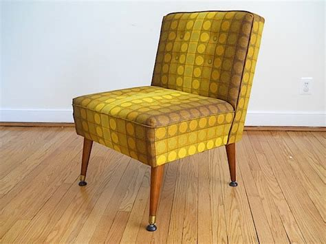 mid century modern furniture chair armless by brambleandbeene