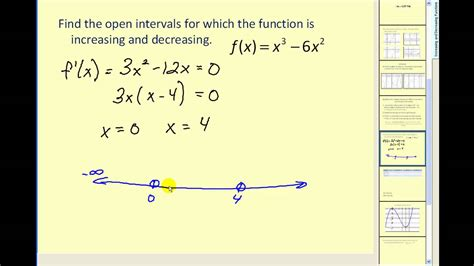 Determining Where A Function Is Increasing And Decreasing