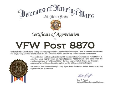 virtual award wall vfw post   auxiliary