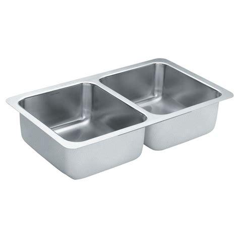 moen kitchen sinks moen 2000 series undermount stainless steel 24 in