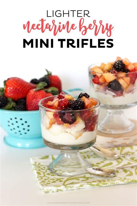 mini trifle recipes lighter nectarine berry mini trifles printable crush