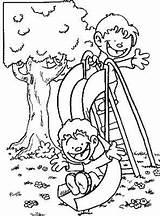 Coloring Pages Slide Park Boys Patio Google El Colorear Para Dibujos Guardado Desde sketch template