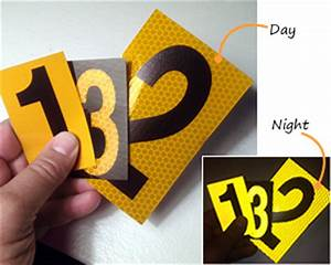 reflective number stickers kamos sticker With 3m reflective letters