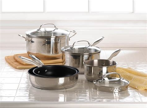 stainless steel cookware lids glass pots pans vented pc benefits matching piece silver sku kitchen wearefound