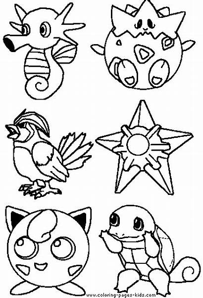 Coloring Pages Pokemon Cartoon Character Printable Characters