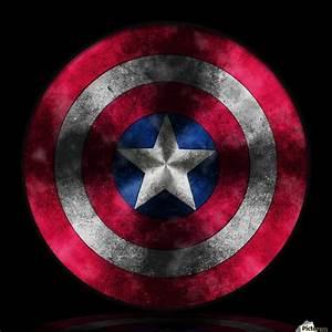 Captain America Shield Digital Painting Georgeta Blanaru