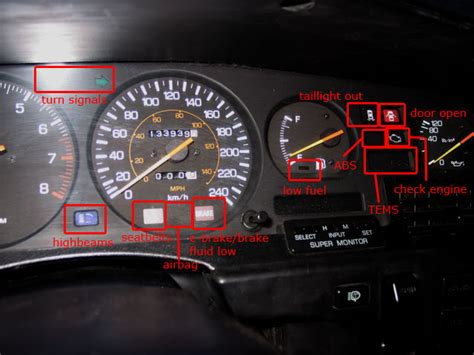 toyota corolla dashboard lights toyota corolla dash light symbols