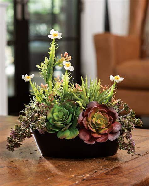 Buy Faux Succulent Planter at Petals/OfficeScapesDirect