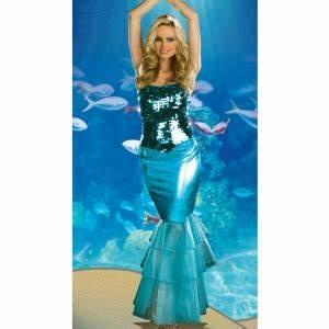 Deguisement De Sirene : costume la sirene sequin bleu deguisement femme adulte ~ Preciouscoupons.com Idées de Décoration