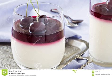 italian dessert panna cotta royalty free stock photo image 34991715