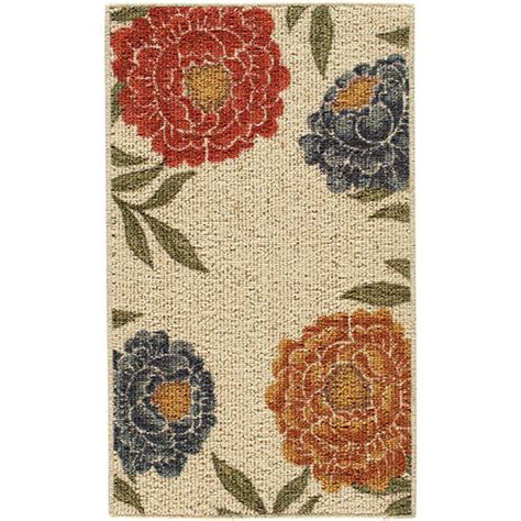 better homes and gardens floral berber printed area rug