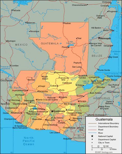 map  guatemala guatemala map tikal fun facts