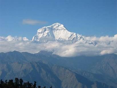 Highest Dhaulagiri Mountain Mountains Nepal Asia Xcitefun