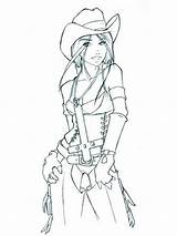 Coloring Cowgirl Printable Coloringhit Recommended sketch template