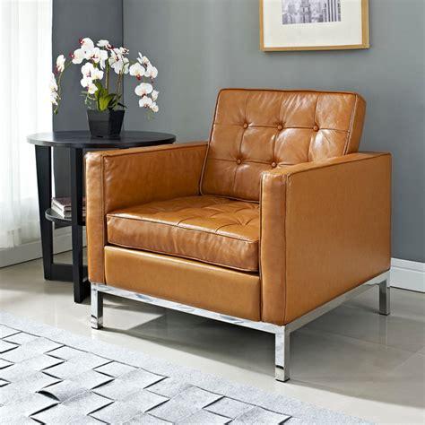 modern leather club chair loft modern armchairs