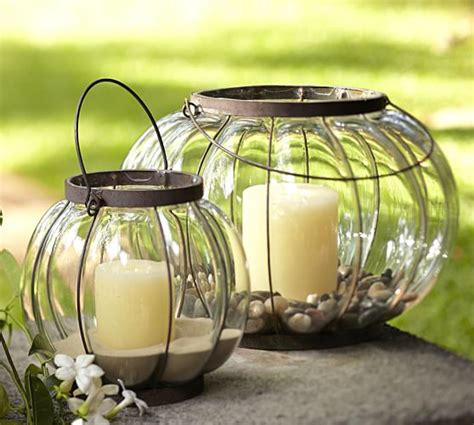 pottery barn outdoor lanterns caged glass lantern pottery barn
