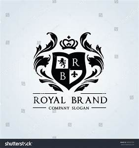 Royal Brand Logocrown Logolion Logocrest Logovector Stock ...