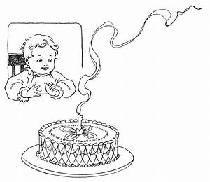 Baby's First Birthday ~ Free Vintage Clip Art | Old Design ...
