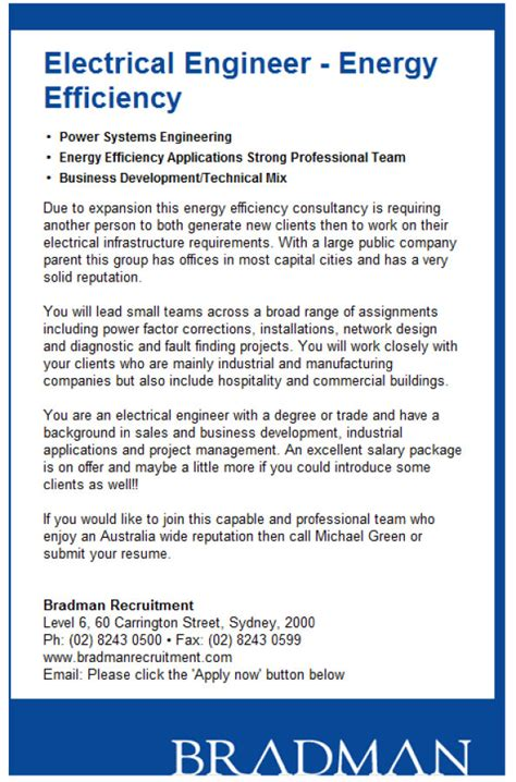 Energy Conservation Engineer Resume by Bradman Carbon Energy Recruitment