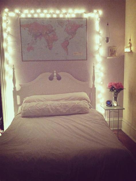Bedroom Fairy Lights And World Map Decor Pinterest Fresh