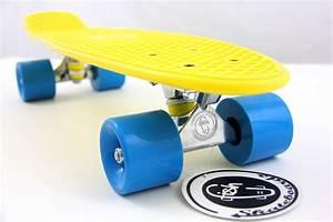 Cruiser Skateboard Trucks : fish skateboard yellow 22 retro cruiser blue wheel silver ~ Jslefanu.com Haus und Dekorationen