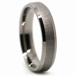 titanium thin mens wedding ring brushed finish With mens brushed wedding rings