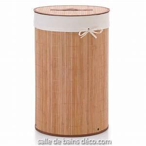 Panier à Linge Bambou : poubelle salle de bain bois maison design ~ Dailycaller-alerts.com Idées de Décoration