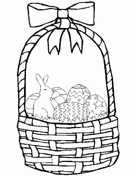 easter basket coloring pages empty easter basket coloring page coloring home