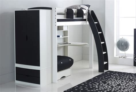 Wardrobe With Drawers Underneath by Scallywag Exclusive High Sleeper Bed With Desk Shelves